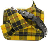 No.21 checked bow shoulder bag
