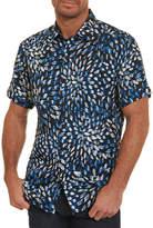 Robert Graham Pebble Beach Brushstroke Silk-Cotton Shirt, Navy