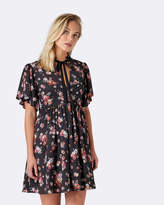 Forever New Hazel Printed Tie Neck Dress