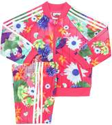 adidas Floral Techno Track Jacket & Track Pants