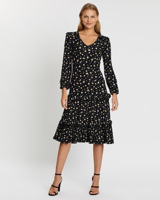 Dorothy Perkins Ditsy Floral Ruffle Tiered Midi Dress
