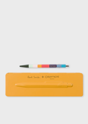 Paul Smith Caran d'Ache + 849 'Artist Stripe' Ballpoint Pen With Orange Case