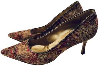 Manolo Blahnik Multicolour Tweed Heels