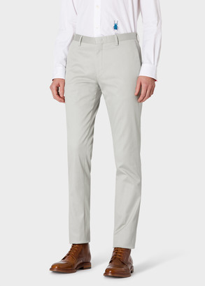 Paul Smith Men's Slim-Fit Light Grey Cotton-Blend Chinos