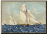 Pottery Barn Antique Yachts Canvas