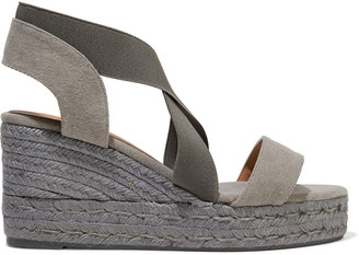 Castaner Bernard Cotton-blend Canvas Wedge Espadrille Sandals