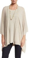 Eileen Fisher Fisher Project Artisan Merino Poncho Cardigan, Maple Oat