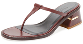 Tibi Eliza Leather Thong Sandal