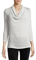 Soft Joie Estee Cowl-Neck 3/4-Sleeve Sweater, Gray