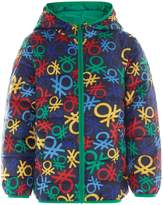 Benetton Boys Printed Padded Hooded Jacket