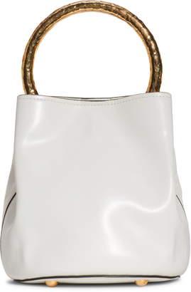 Marni Hammered Handle Leather Bucket Bag