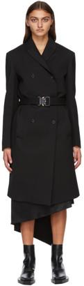 Alyx Black Buckle Double High Coat