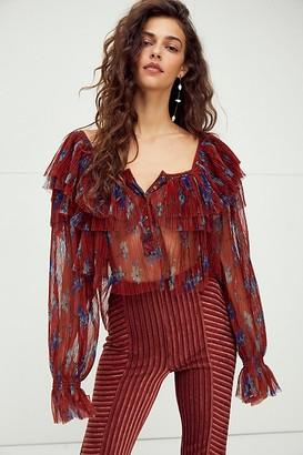 Free People Frills And Thrills Top