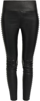 Sprwmn Studded Leather Leggings