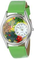 Whimsical Watches Women's S0140004 Turtles Green Leather Watch