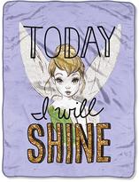 Disney Tinker Bell 'I Will Shine' Micro Raschel Throw