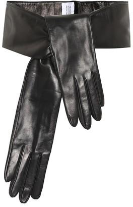 Vetements Leather gloves belt