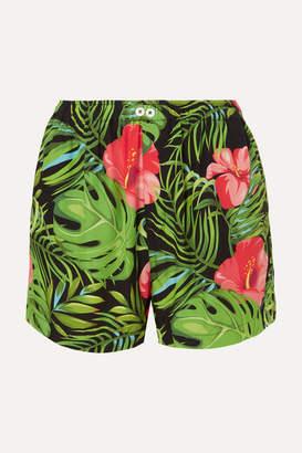 BLOUSE - Figaro Printed Poplin Shorts - Green