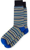 Neiman Marcus Striped Cotton Socks