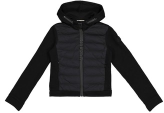 Moncler Enfant Quilted down and cotton jacket