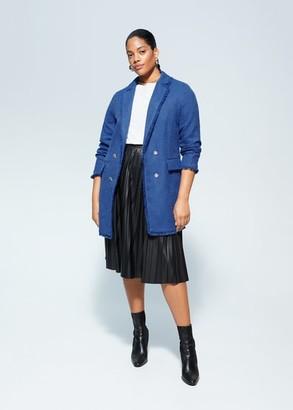 MANGO Violeta BY Frayed jacket blue - S - Plus sizes