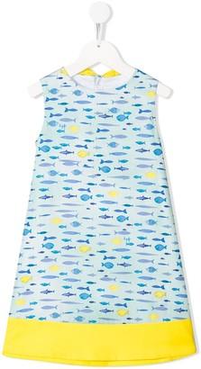 Il Gufo Fish Print Dress