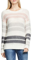 Vince Camuto Petite Striped Knit Drop-Shoulder Pullover