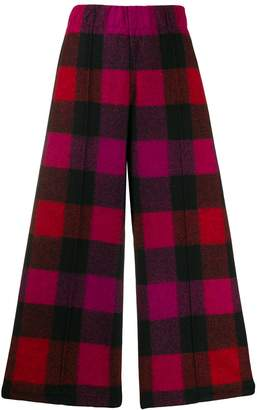 Woolrich check cropped trousers