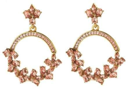 26a2410ce6591 Crystal Hoop Earrings