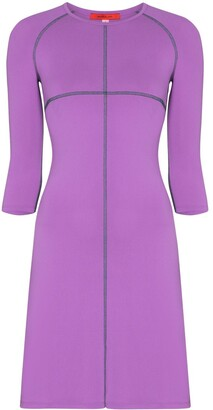 Eckhaus Latta Sport-style overlocked mini dress