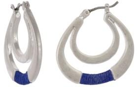 The Sak Silver-Tone Thread Wrap Hoop Earrings
