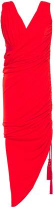 Lanvin Draped Gathered Crepe-jersey Dress