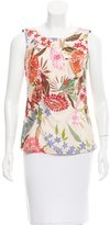 Bogner Sleeveless Floral Print Top