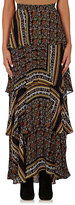 A.L.C. Women's Davis Tiered-Ruffle Long Skirt-Brown