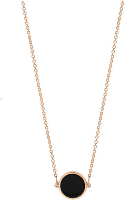 ginette_ny Mini Ever Onyx Disc Necklace