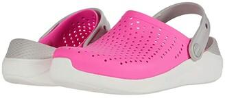 Crocs LiteRide Clog (Little Kid/Big Kid) (Electric Pink/White) Kid's Shoes