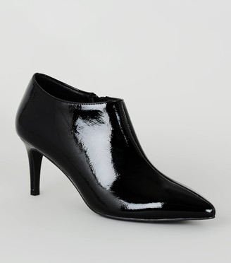 New Look Patent Pointed Shoe Boots