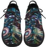Angelinana Angelinan Custom Marvel Comics Avengers Women's Breatheable Woven Fashion Running Shoes