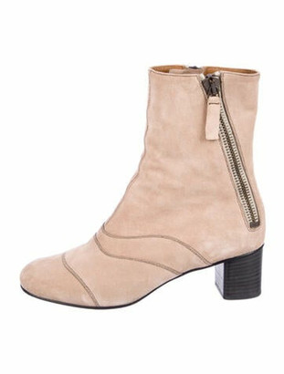 Chloé Suede Boots Pink