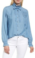 Halogen Women's Ruffle Bow Neck Blouse