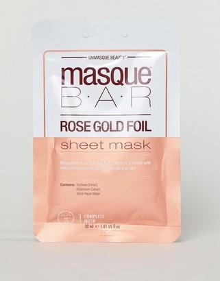 MasqueBAR Rose Gold Foil Moisturizing Sheet Mask-No Color