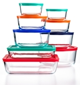 Pyrex 18-Pc. Simply Store Set with Colored Lids