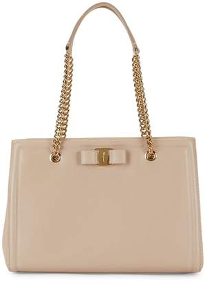 Salvatore Ferragamo Melike Leather Chain Shoulder Bag