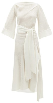 Petar Petrov Amee Open-back Crinkled Silk-crepe Dress - Ivory