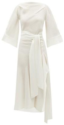Petar Petrov Amee Open-back Crinkled Silk-crepe Dress - Womens - Ivory