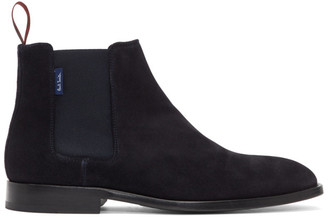 Paul Smith Navy Suede Gerald Chelsea Boots
