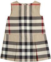 Burberry Sleeveless Check Cotton Gabardine Dress