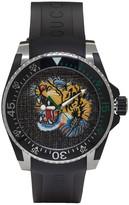 Gucci Black & Silver Dive Tiger Watch