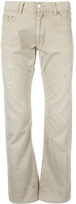 Helmut Lang Pre-Owned 1999 Paint Print Slim Trousers