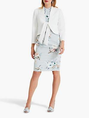 Phase Eight Karen Tie Front Jacket, Ivory